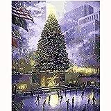 Hxfhxf Central Park of New York Pintura al óleo Imagen de paisaje de EE. UU. Por números Dibujo digital Colorear Decoración de regalo única Decoración de la habitación-40x50cm