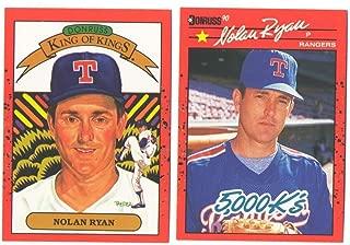 1990 Donruss - TEXAS RANGERS Team Set w/Gonzalez and Ryan Errors