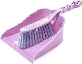 家族 ミニブルームとダスターセット家庭用アーティファクトデスクトップベッドクリーニングコンビネーションゴミショベル寝室のキッチンなどに適した クリーニングツール (Color : Purple)