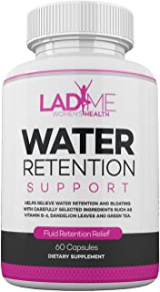 Water Retention Pills for Women Bloating Relief with Vitamin B6, Dandelion & Green Tea Natural Diuretic for Water Draining, Bloating & Swelling Detox Capsules - 60 Caps - by LadyMe