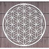 Décoration murale Fleur de vie en acier inoxydable - Symbole spirituel - Cadeau ésotérique idéal