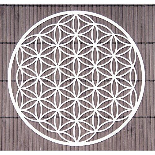 Wand-Deko Blume des Lebens ø 18 cm aus Edelstahl | Wand-Schmuck Lebensblume Wand-Dekoration Spirituelles Symbol | Esoterik Geschenke günstig kaufen