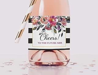 Bridal Shower Mini Champagne Labels, Set of 10 Bachelorette Mini Wine Labels, Cheers to the Future Mrs. Mini Champagne Bottle Labels