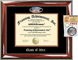 AllGiftFrames Custom Diploma Frame FAMU Embossed Best Florida A&M University Graduation Degree Frame Double Mat Campus Fisheye Picture Frame Degree Graduate Gift