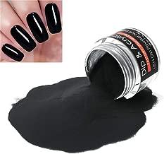 2 In 1 Nail Dip Powder & Acrylic Powder Black Color 1 Ounce I.B.N Dipping Powder (Added Vitamin and Calcium) Non-Toxic & Odor-Free, No Need Nail Lamp Dryer (56)