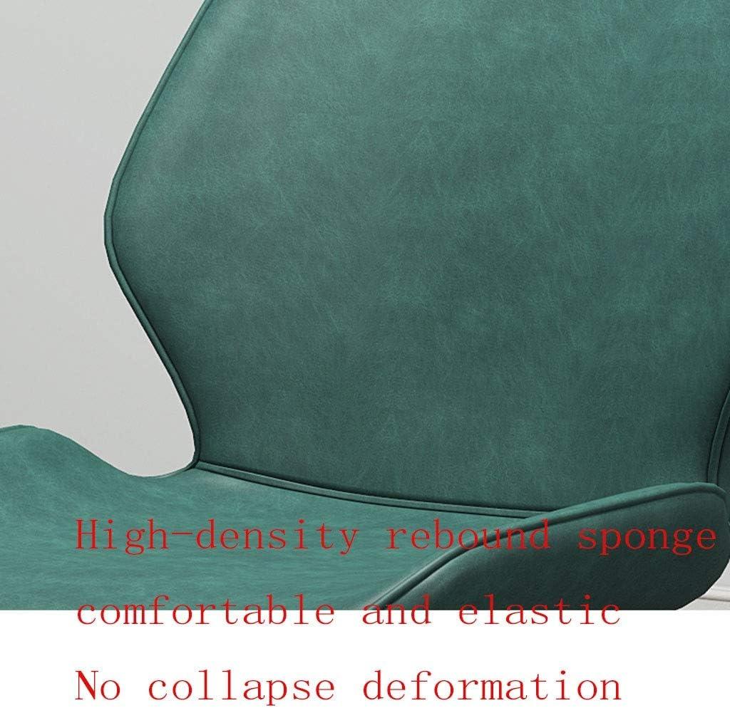 HEJINXL Chaises Salle Manger Chaise Cuisine Dossier Cuir Givré Cadre Acier Carbone Pieds Antidérapants d'angle Chaise Terrasse Minimaliste Moderne Salle Réunion (Color : F) A