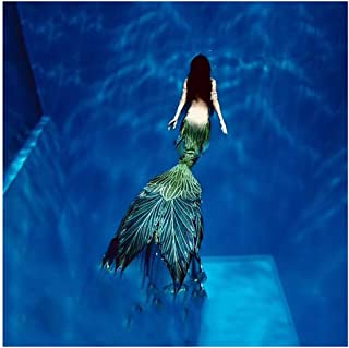 Cola De Sirena para La Natación Bikini Traje De Bano Sirena para Adultos/Niños/Hombres/Mujeres/Piscina/Fiesta/Exterior/Fot...