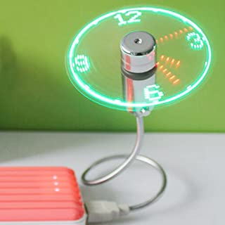 Anysecu LED USB Fan Clock with Real Time LED Light - Cool Gadget