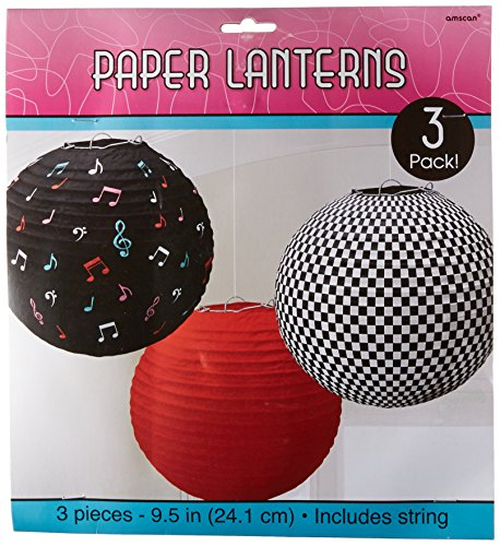 amscan 241276 24 cm Klassische Papierlaternen