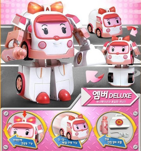 Deluxe Robocar Poli Toy - Amber (Transformer) - Special Limited Edition by Robocar Poli