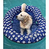 Vercico Inflatable Pool Float for Dogs and Puppies, Large Contemporary Pet Dog Cat Swimming Pool Float Ride on (Blue)