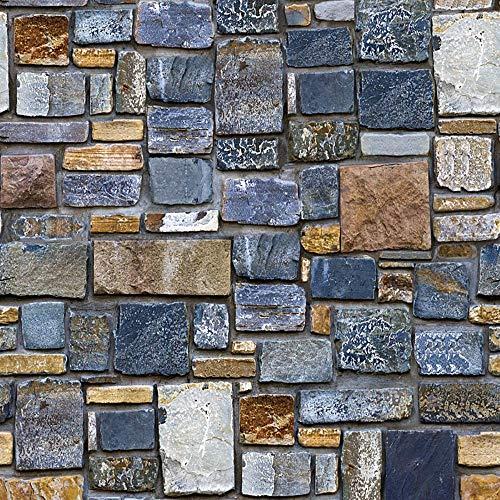 YWLINK 3D Brick Stone RúStico Autoadhesivo Etiqueta De La Pared DecoracióN para El Hogar
