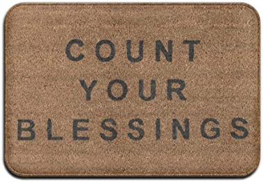 Novogratz Count Your Blessings Super Absorbent Anti-Slip Mat,Coral Carpet,Carpet Door Mat,Carpet,Carpet,Door Mat,18 * 30 Inch