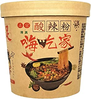 Haichijia Hot and Sour Powder Chongqing Authentic 6 Packs (120gx6)嗨吃家酸辣粉官网桶装重庆正宗清真6桶