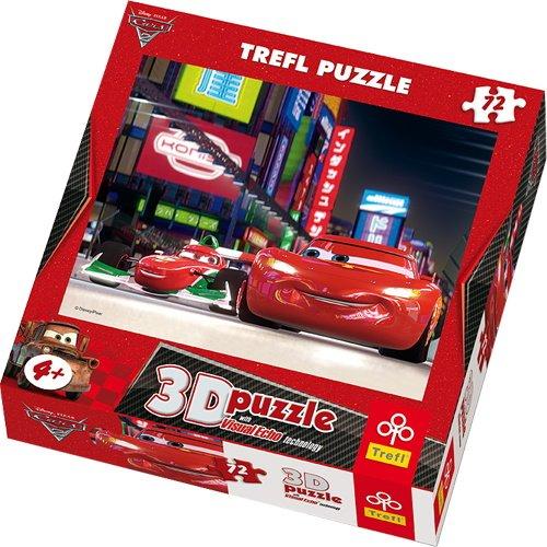 TREFL - Puzzle 3D Rayo Mcqueen Disney Cars de 72 Piezas (TR35556)