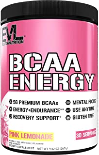 Evlution Nutrition BCAA Energy - Essential BCAA Amino Acids, Vitamin C & Natural Energizers for Performance, Immune Suppor...