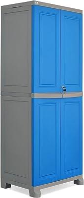 Nilkamal Freedom Big 1 (FB 1) Plastic Storage Cabinet (Deep Blue & Grey)