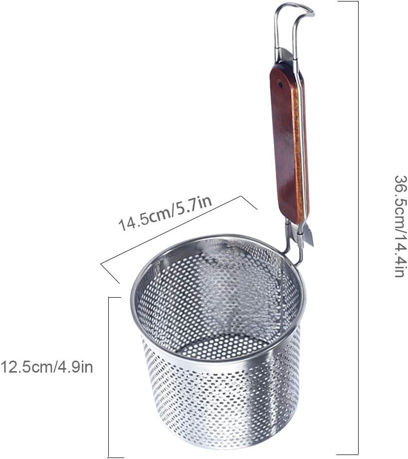 Mingtongli R/ésistant /à la Chaleur P/âtes Nouilles Cuisson Panier Passoire Hot Pot Skimmer cuill/ère Outil de Cuisine Taille 1 14.5cm