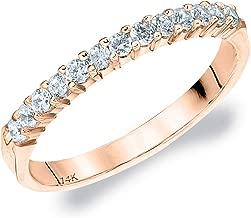 .25CT Destiny Shared Prong Diamond Wedding Band, 1/4CTTW Diamond Anniversary Ring in 14K Gold