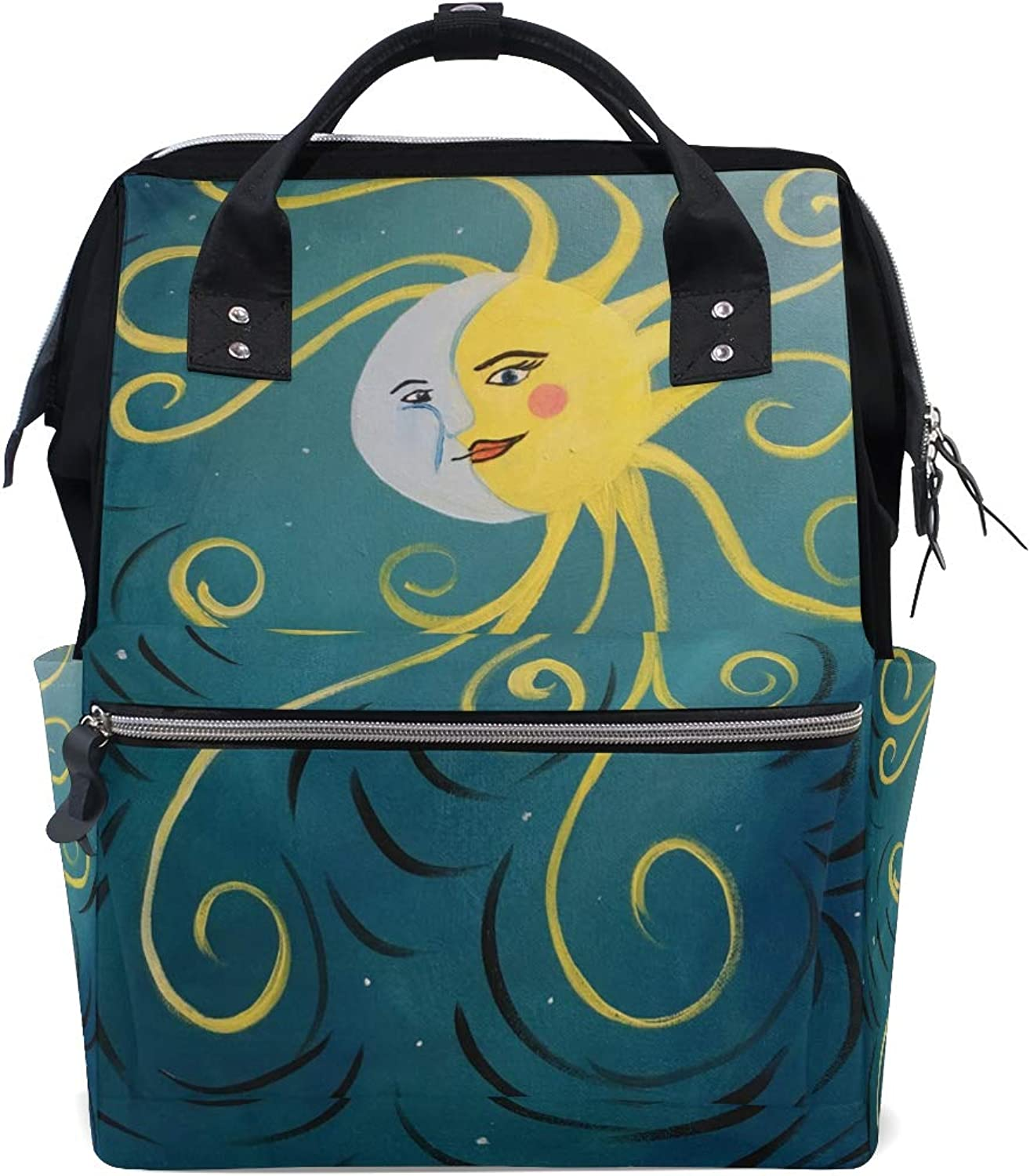910e0882bb7d MONTOJ Awesome Sun and Canvas Travel Campus Backpack Moon Bag ...