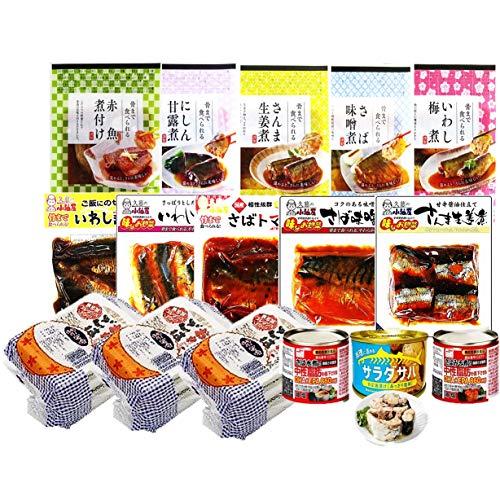 【非常食・防災食・常備食】常温煮魚・レトルトごはん・鯖缶14種16個セット