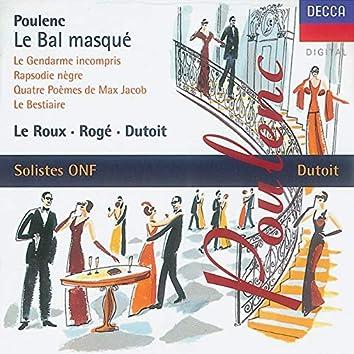 Poulenc: Le bal masqué/Chamber Works
