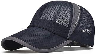 Susclude Men`s Outdoor Quick Dry Mesh Baseball Cap Adjustable Lightweight Sun Hat for Running Hiking