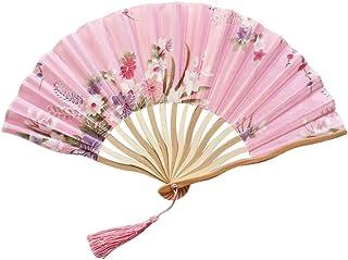 99AMZ Plegable Abanico de Papel y Bambú Madera Colores Rojos Ventilador Plegable Estilo Chino Abanicos de Mano de Estilo Chino Abanicos de bambú ahuecados para la decoración de Bodas (E)