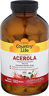 Country Life - Chewable Acerola 500mg 180chw