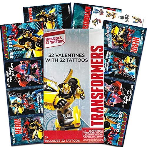 Transformers 34 Valentines Cards with Tattoos