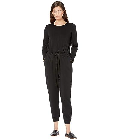 Eileen Fisher Round Neck Ankle Jumpsuit (Black) Women
