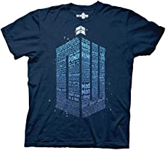 Ripple Junction Doctor Who Logo of Words Adult T-Shirt
