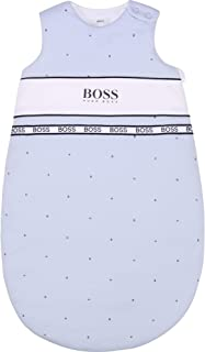 BOSS - Turbulette Interlock de Coton pour Bébé pour Les Demi-Saisons et l'Hiver - La fermeture Zippée - Bleu