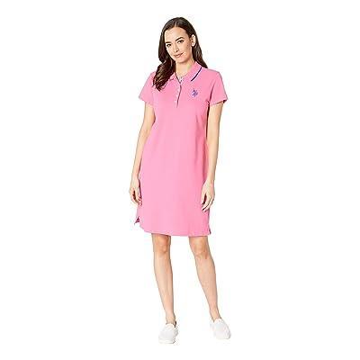 U.S. POLO ASSN. Plain Polo Dress (Pink Plumeria) Women