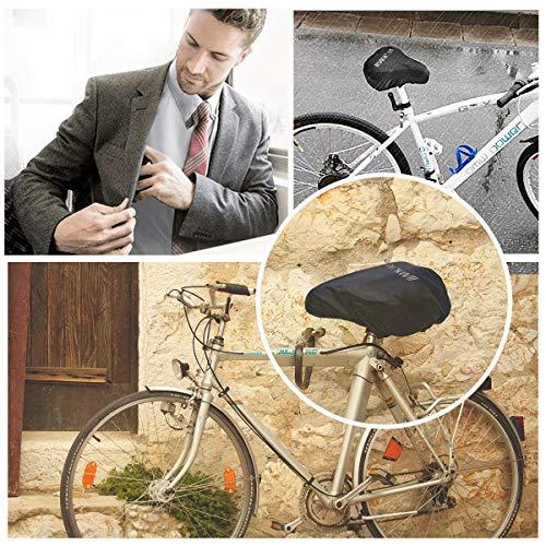 DATONG Wasserdichte Fahrradsattelabdeckung,elastische Wasserfeste Fahrradsattel Schutzhülle, Passend für den Meisten Fahrradsattel wie Rennrad, Mountainbike, Damenrad, E-Bike u.s.w.(2PCS) - 4