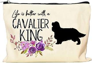 Cavalier King Charles Spaniel Life is Better Makeup Bag