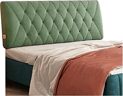 ZXCVB Soft Bed headboard Read Pillow Bed Head pad, Waist Thickness 10cm can be Cleaned, Used in Bedroom Bed Decoration, 6 Colors (Color: Pink, Size: 120x60x10cm)