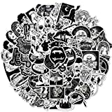 100PCS Gothic Stickers Black White Personality Laptop Stickers Computer Bedroom Wardrobe Car Skateboard Motorcycle Bicycle Mobile Phone Luggage Guitar DIY Decal (Gothic Black and White)