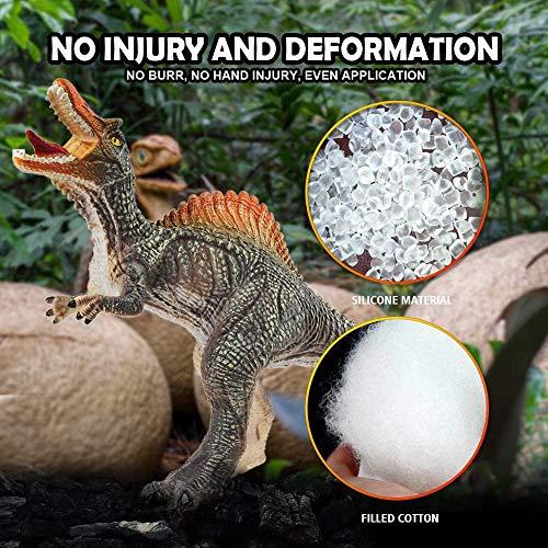 GizmoVine Dinosaur Toys for Boys 4 Pezzi, Decorazione in Dinosauro in Schiuma Morbida 31cm con Realistici Giocattoli Sonori di Dinosauro per Bambini