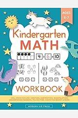 Kindergarten Math Workbook: Kindergarten and 1st Grade Workbook Age 5-7 | Homeschool Kindergarteners | Addition and Subtraction Activities + Worksheets Paperback