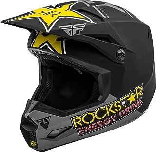 Matte Grey/Black/Yellow Sz L Fly Racing Kinetic Rockstar Energy Helmet