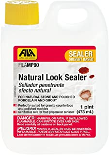 FILA Solvent Based Sealer MP90 1 Pt. Sealer ideal for Granite Countertops, Natural Stone, Polished Porcelain and Marbles, Natural Look, Water Repellent.