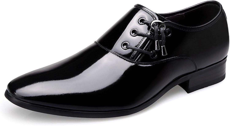 GTYMFH Herren Leder Smart Smart Loafer Kleid Schuhe Party Design Glänzende Hochzeit Gelegenheit Schuhe  Marke kaufen