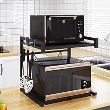 Microondas digitales horno Nivel 2 del horno microondas del estante del soporte de almacenamiento, for ampliable Cocina Estanterías de alambre de microondas horno de pan con especias rack Organizador
