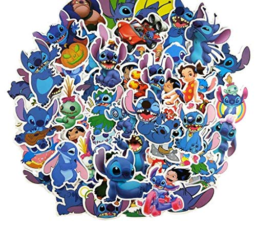 DZCYAN 55Pcs/Set Lilo & Stitch Graffit Stickers for Skateboard Motorcycle Luggage Laptop Notebook Toy Cool Pegatinas