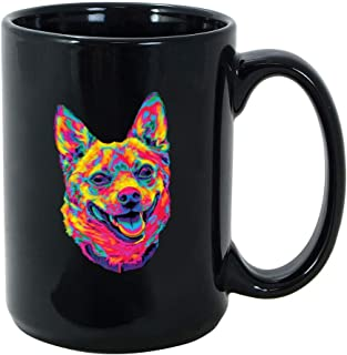The Adorable Rainbow Mutt Dog Pre Mug 15 Oz Black