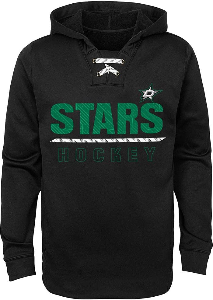 Outerstuff NHL Youth 8-20 Performance Team Color Lace em Up Pullover Sweatshirt Hoodie