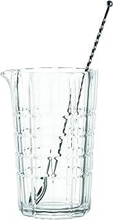 LEONARDO HOME Spiritii Rührglas  Löffel, 2-teiliges Set, 650 ml, Höhe 16 cm, Klarglas, 022762