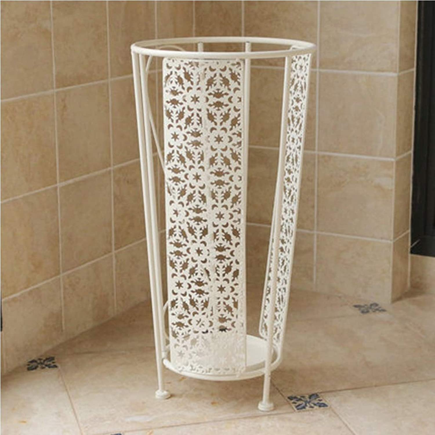 Lyqqqq Umbrella Household Iron Umbrella Stand Umbrella Barrel Hotel Lobby Rain Gear Storage Rack Creative Floor Umbrella Tube