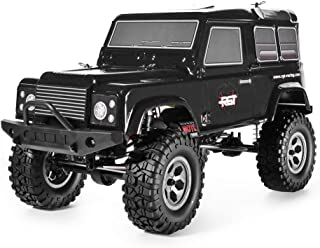 RGT Rc Crawlers 1/10 Scale 4wd 4x4 Off Road Racing Rock Crawler Water Resistance Rock Cruiser with Remote Control - Black (Adventure 136100BK)